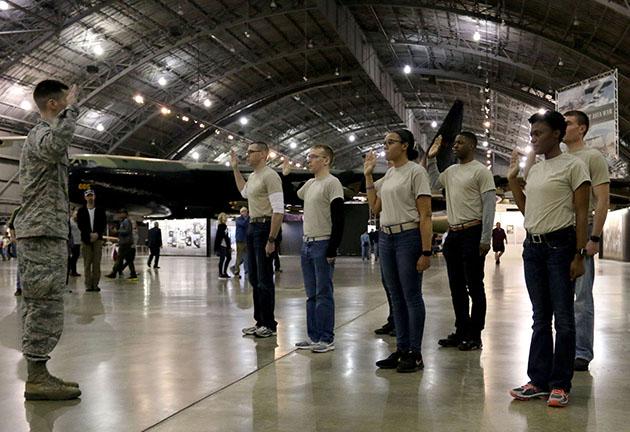 Mass enlistment sets bar high for future Airmen
