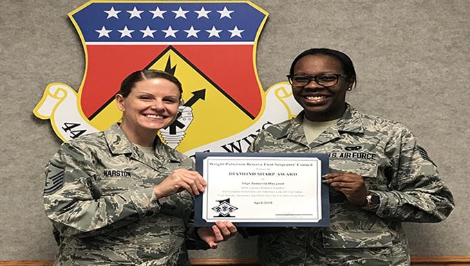445 LRS Airman is Diamond Sharp Award winner
