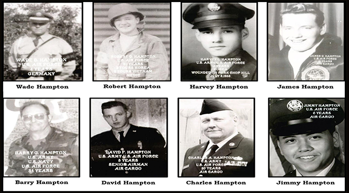 Seven brothers linked by service